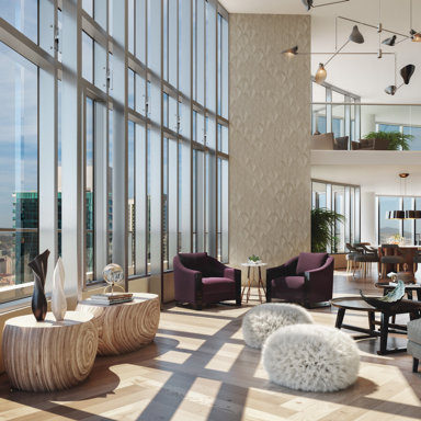 Lumina Penthouses logo, modern sophistication in the heart of San Francisco